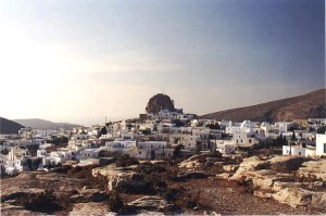 view of Hora in Amorgos