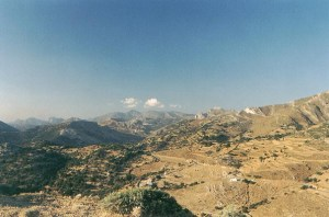Mountain mainland in Naxos