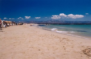 New Golden beach in Paros