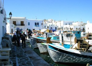 the old port of Naoussa in Paros