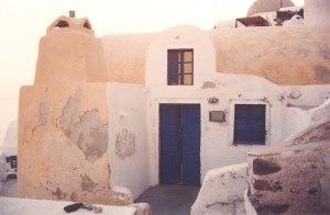 Old house by the cliff in Santorini