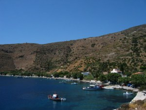 the port of Chryssomilia in Fournoi