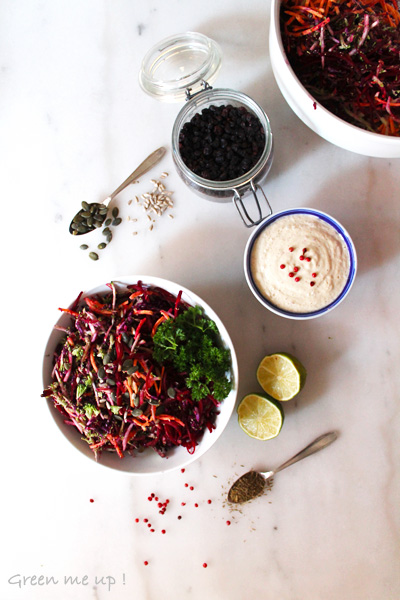 salade de légumes râpés