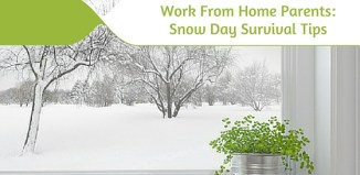 Work From Home Parents on How to Survive a Snow Day