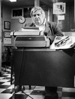 Bob Greene at his desk.