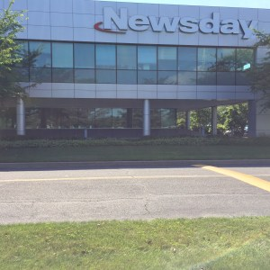 Visiting the Newsday offices was one of the highlights of the day