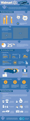 Walmart environmental initiatives infographic