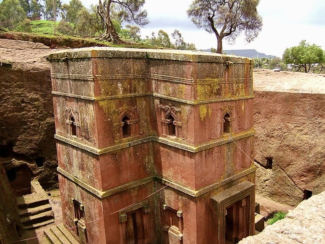 Bet Giyorgis Church in Lalibela, Ethiopia