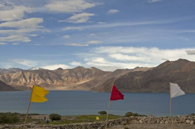 Pangong Flags