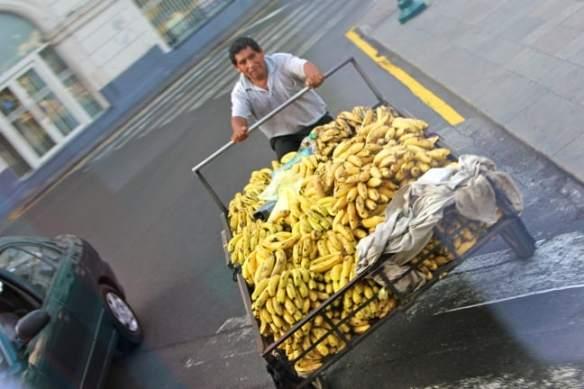 Banana Man in Lima, Peru