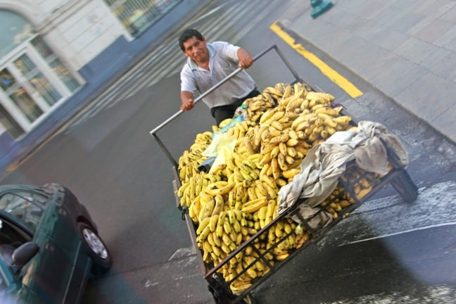 Banana Man in Lima, Peru