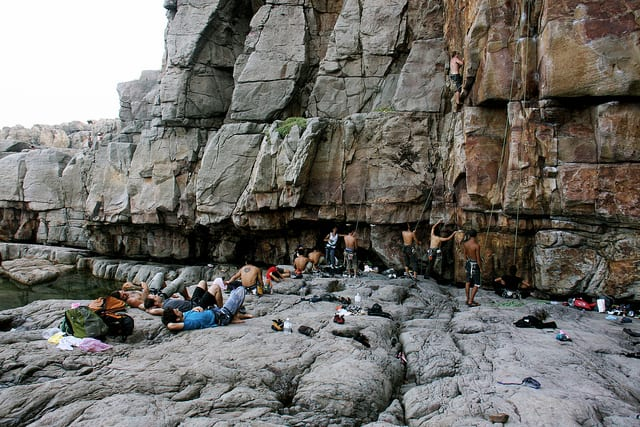 Climbing Long Dong (a.k.a. Dragon Cave), Taipei