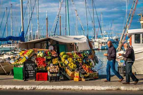 A Fruit Stand on Aegina Island, Greece