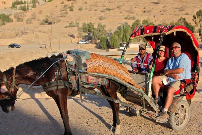 Horse carriage ride in Petra, Jordan