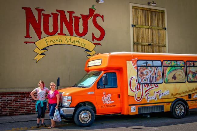 Cajun Food Tours to Nunu's Fresh Market in Lafayette, Louisiana