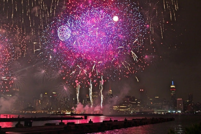 The annual 4th of July Fireworks in New York City