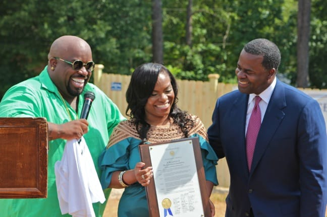 CeeLo Green & Shedonna Alexander With Atlanta Mayor Kasim Reed