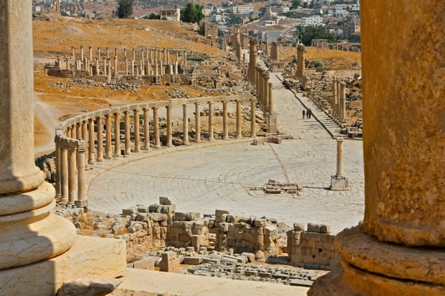 An Expansive View of Jerash, Jordan