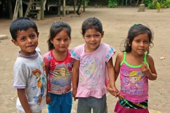 Faces of Peruvian Children of Nueva York Village