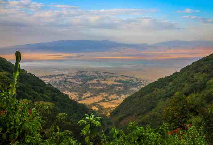 Sunset in the Ngorongoro Conservation Area, Tanzania