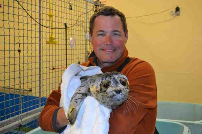 Jeff Corwin With Seal