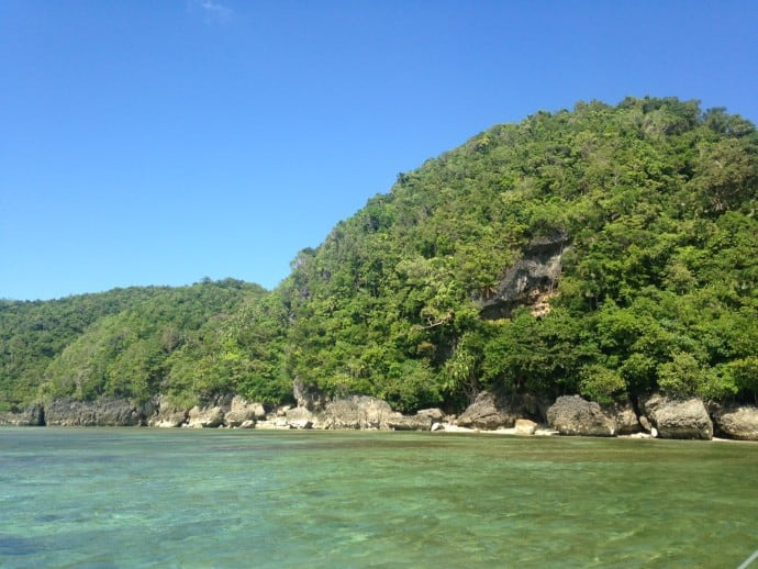 Philippine Island of Danjugan - view of the coast