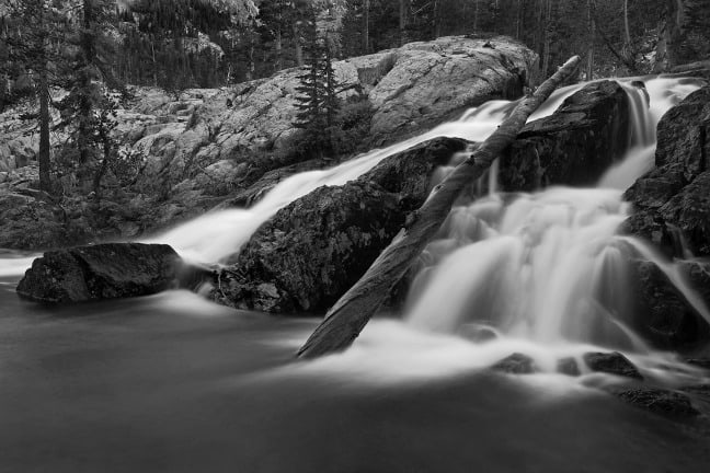Ansel Adams Wilderness, California. Dusk, Shadow Creek