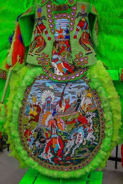 Treme New Orleans: Spy Boy Dow Edwards' 2015 Super Sunday Suit