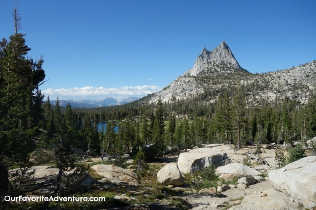 Hiking the John Muir Trail - Yosemite Lake in distance