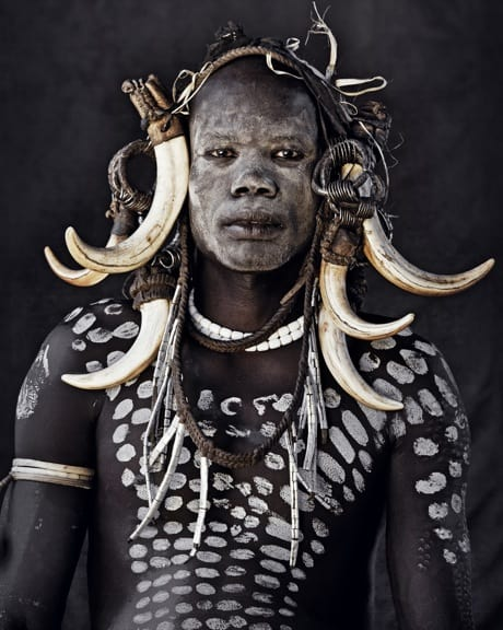 Mursi Man, photographed by Jimmy Nelson in Before THey Pass Away