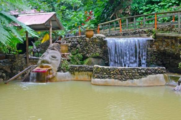 The pools at Screw's Sulphur Spa, Dominica
