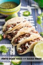 Pinto Bean Taco with Salsa Verde