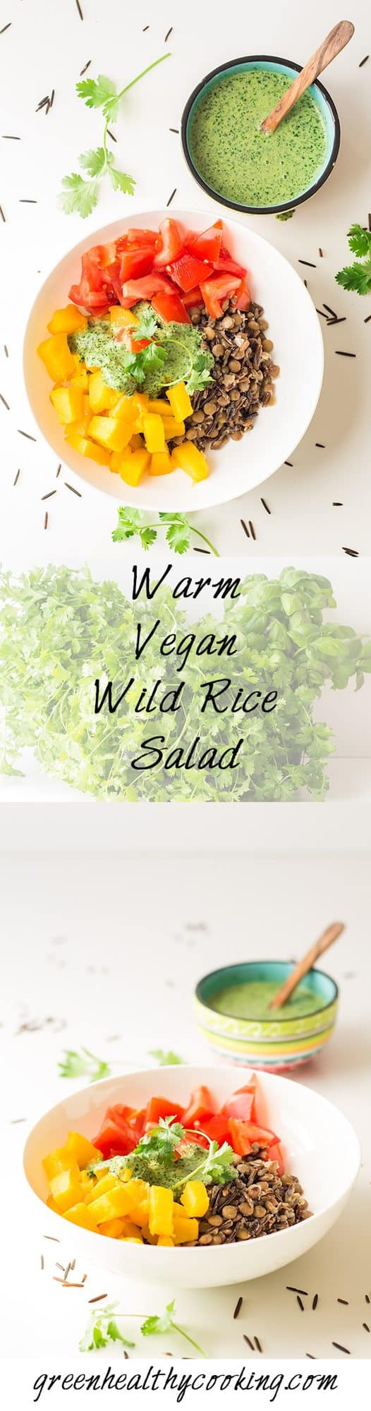 Warm vegan wild rice salad green healthy cooking - Quince recipes for babies a healthy fall ...