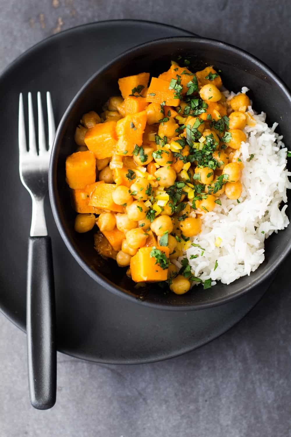, soy-free, gluten-free, Thai Vegan Sweet Potato and Chickpea Curry ...