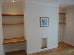 Oak shelving desk