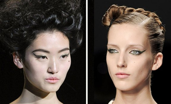 eyeliner on spring 2012 runways