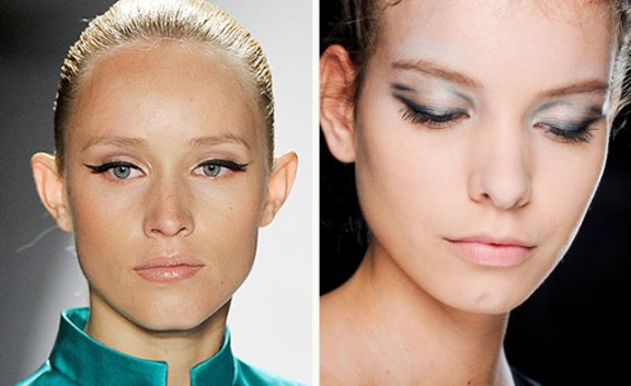 eyeliner on spring 2012 runway