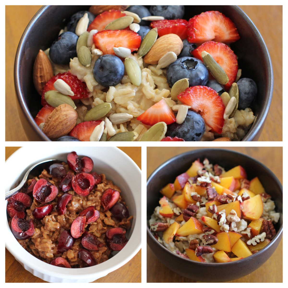 Summer Oatmeal, 3 Ways