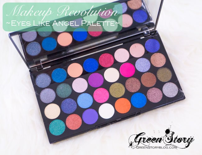 Makeup Revolution Eyes Like Angel 32 Shadow Palette | Review & Swatch