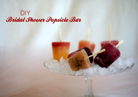 diy bridal shower popsicle party
