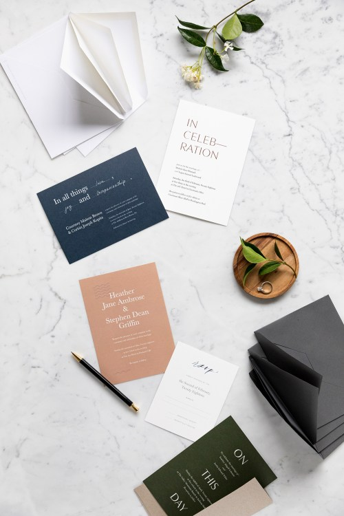 Medium Of Modern Wedding Invitations