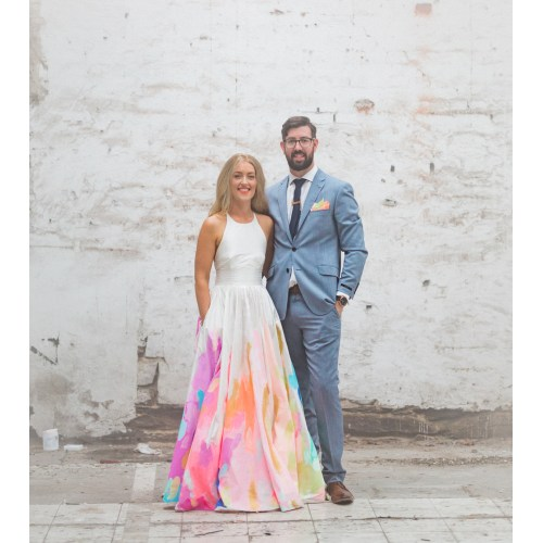 Medium Crop Of Rainbow Wedding Dress