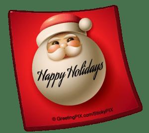 Stix. Happy Holidays Santa
