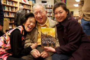 Moon Chin at Bookshop West Portal with Renee Robertson and his neice, Lili