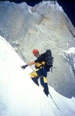 Jim Donini on Cerro Torre in 1996