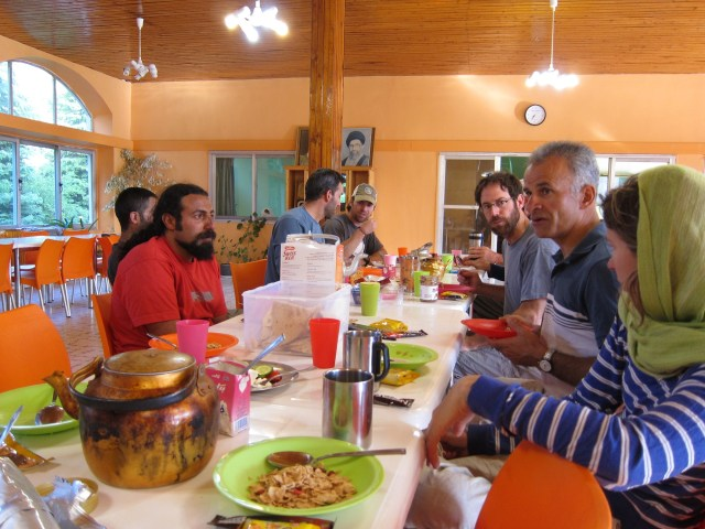 Breakfast in a guest house the morning after we got down