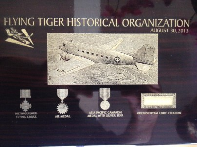 Gift to Moon from the Flying Tiger Historical Association