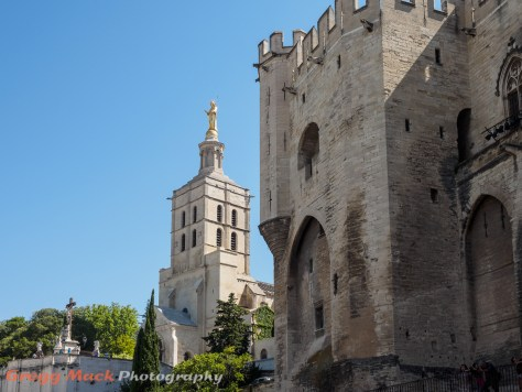 Notre Dame des Doms behind the Pope's Palace in Avignon, France