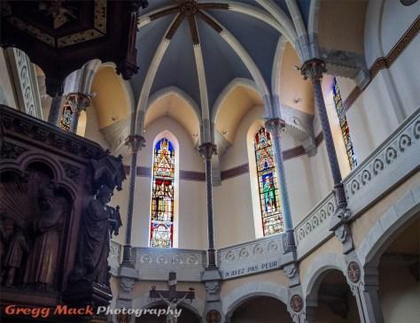 Chapelle Notre Dame de la Salette, a medieval church above Vienne, France.