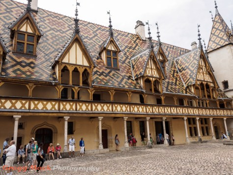 Tour of the Hotel-Dieu, which was a hospital for the poor in Beaune.